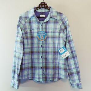 Columbia Silver Ridge Plaid Long Sleeve Shirt SM